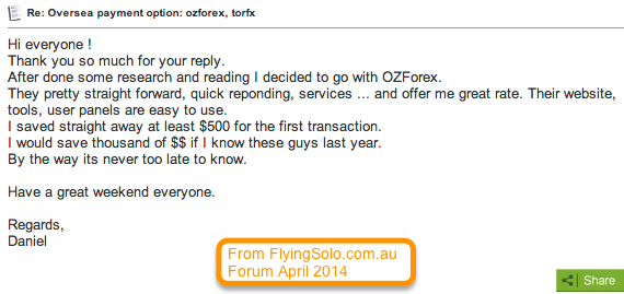 FlyingSolo Forum About Sending Money Overseas