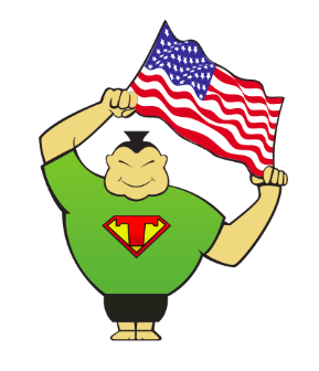 Transumo Man with US Flag