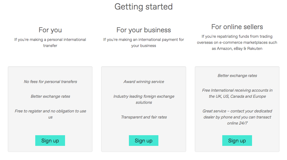 Sign Up Options With Worldfirst