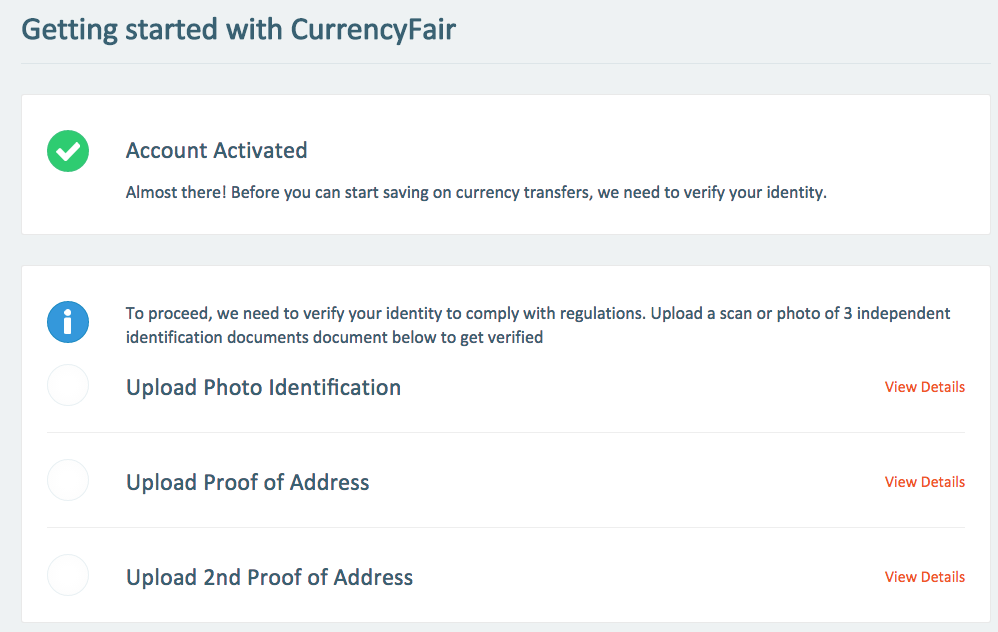 Information Required by CurrencyFair